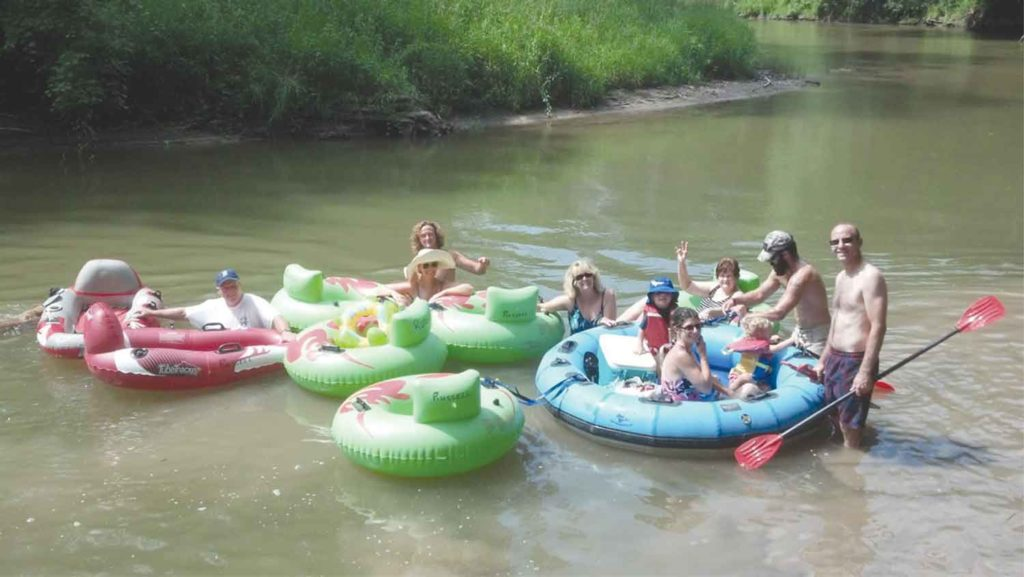 Russell Canoe group tubing Rifle River